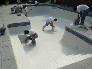 Replastering Pool by Colony Pool Service